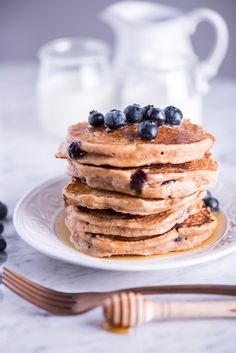 Hot Cakes con Blueberries @ DeliciousHome