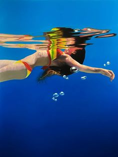 Oil Paintings of Underwater Scenes by Matt Story Red Rising, Oil Painters, Art Prints For Sale, Painting Tips, Contemporary Artists, Underwater, Fine Art, Tabula Rasa, Paintings