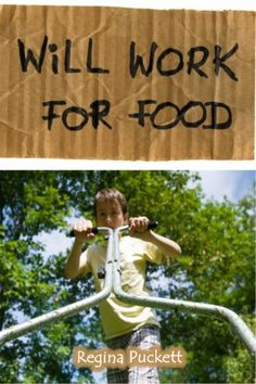 Will Work for Food by Regina Puckett, http://www.amazon.com/dp/B007RDQGZ6/ref=cm_sw_r_pi_dp_VJHRrb143CSH1