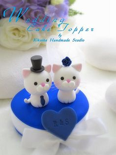 LOVE ANGELS Wedding Cake Topper-love cat,love kitty | Flickr - Photo Sharing!