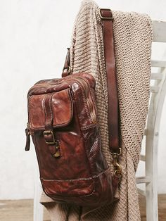 Campomaggi Positano Distressed Backpack at Free People Clothing Boutique