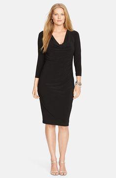 Lauren Ralph Lauren Print Jersey Dress Plus Size available at