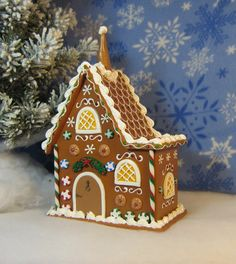 Traditional wooden split level gingerbread by GingerbreadFair