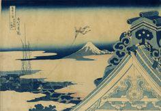 Honganji Temple in Asakusa Province of Eastern Capital Edo, Thirty-six Views of Mount. Fuji, Hokusai Katsushika (1760?-1849), Nishimuraya Yohachi, Circa. 1830, Japanese paper, 37.4 x 26 cm