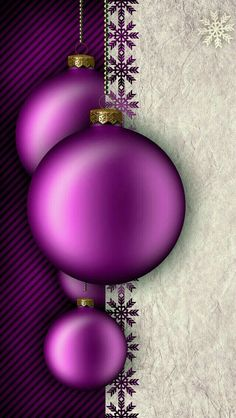 Wallpapers iPhone (new year/christmas) Purple Christmas, Christmas Frames, Christmas Scenes, Noel Christmas, Christmas Paper, Christmas Pictures, Christmas Bulbs, Christmas Decorations, Christmas Phone Wallpaper