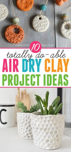 to Make with Air Dry Clay: Fun and Beautiful Projects Things to make with air dry clay: Ten easy and beautiful projects using air dry clay.Things to make with air dry clay: Ten easy and beautiful projects using air dry clay. Clay Projects For Kids, Clay Crafts For Kids, Kids Clay, Arts And Crafts, Air Dried Clay Projects, Art Projects For Schools, Easy Projects, Air Dry Clay Ideas For Kids, Polymer Clay Projects