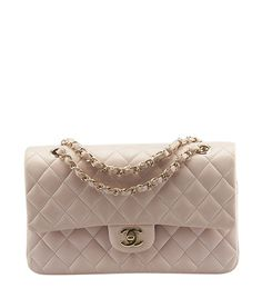Chanel Classic Double Flap Pink Quilted Lambskin Leather Shoulder Bag