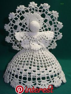 Crochet Patterns Christmas Photo only. No pattern - Salvabrani Christmas Angel Decorations, Quilted Christmas Ornaments, Angel Ornaments, Christmas Angels, Christmas Crafts, Crochet Snowflake Pattern, Crochet Shrug Pattern, Christmas Crochet Patterns, Crochet Snowflakes