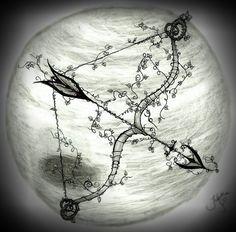 Sagittarius Art   Sagittarius Arrow by 13bakemono666