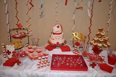 Nursing graduation dessert table! #nursing #RN #party