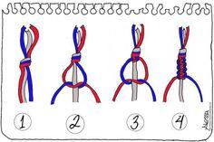 """Macramé ist eine Knüpftechnik, die aus dem Orient stammt. Das Wort """"Macramé"""" (im Deutschen auch Makramee) leitet sich aus dem arabischen Wort migramah ab – und bedeutet in etwa """"weben"""". Mit dieser Technik lassen sich wunderschöne Schmuckstücke, z.B. Armbänder herstellen. … weiterlesen"""
