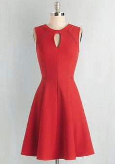 Moxie Must-Have Dress in Red From the Plus Size Fashion Community at www.VintageandCurvy.com
