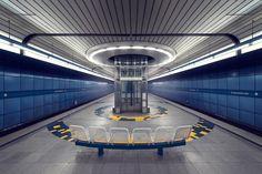 "Munich underground station ""Brudermühlstraße"" photographed by artist Nick Frank. Visit his website for more pictures of Munich's U-Bahn. U Bahn Plan, S Bahn, Surreal Photos, Metro Station, Rapid Transit, Public Transport, Futuristic, The Incredibles, World"