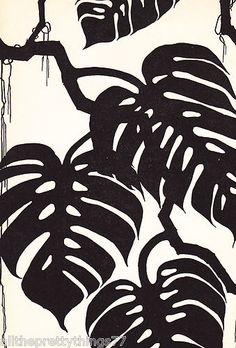 Vintage Matted Don Blanding 1941 Print Deco Picture Silhouette Plant Leaves Moss   eBay