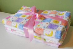Receiving Blanket for Baby Girl Swaddling by FindUrHappyPlace, $28.00