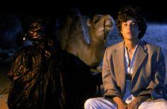 John Malkovich and Debra Winger in The Sheltering Sky 90s Movies, Cinema Movies, Debra Winger, Bernardo Bertolucci, John Malkovich, Inspirational Movies, Present Day, Music Tv, Film Stills