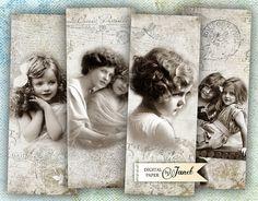 Soul Journal - bookmarks - set of 6 bookmarks - digital collage - printable JPG file