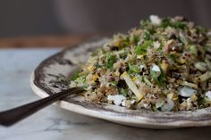 A recipe for a hot, hot week...  Add a fried egg & voila! Dinner.