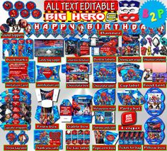 BIG HERO Birthday Decorations Editable by BirthdayPartyStudio