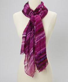 Take a look at this Purple Stripe Scarf by The Accessory Collective on #zulily today!