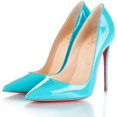 CHRISTIAN LOUBOUTIN Patent So Kate 120 Pumps 35 Pacific featuring polyvore women's fashion shoes pumps patent leather pumps christian louboutin shoes stiletto pumps high heel stilettos red pointed toe pumps