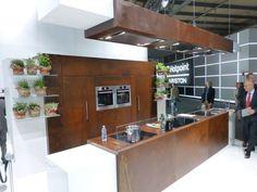 A complete kitchen made out of Corten steel! #CortenSteel #design #kitchen