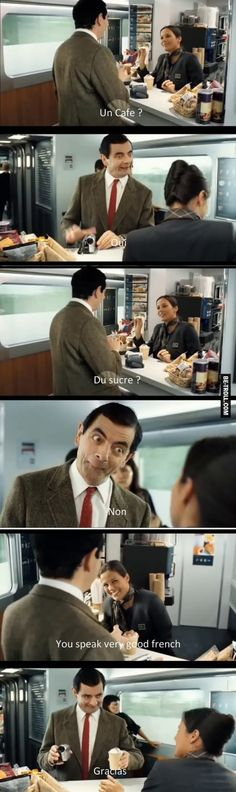Mr Bean parle very good french…