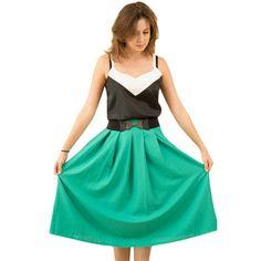 <3 Green midi skirt