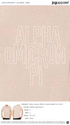 Alpha Omicron Pi Go Greek Shirt | Sorority Go Greek Shirt | Greek Go Greek Shirt #alphaomicronpi #aopi #aoii #aop #Go #Greek #Shirt Go Greek, Greek Week, Sorority Shirt Designs, Sorority Shirts, Alpha Omicron Pi, Greek Shirts, Custom Design Shirts, Sorority And Fraternity, Coffee Quotes