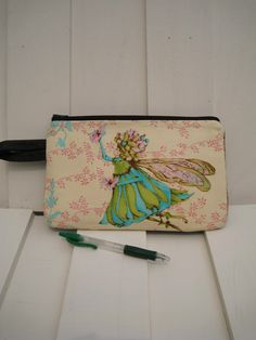 50% OFF Large pouch, silk cotton clutch, 2 pockets, handmade gift for her blue silk -- Little Angel by bagonebagshop on Etsy