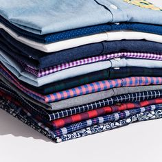 Lots of fun fabrics and colors for Fall!  #menswearinspired #tomboystyle #androfashion #shirtstack #buttonupshirt #buttonup #buttondown #fabric #gingham #plaid #shirt #tomboy #androgynous #style #fashion #tomboi