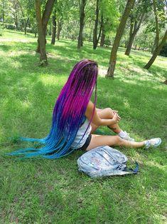 Synthetic Dreadlocks, Synthetic Hair, Female Dreads, Amber Hair, Long Dreads, Hair Again, Haircut And Color, Rainbow Hair, Hair Looks