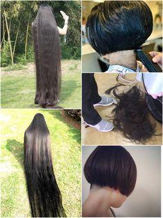 Long Hair Cuts, Long Hair Styles, Forced Haircut, Cute Haircuts, Short Pixie, Pixie Hairstyles, Rapunzel, Bobs, Her Hair