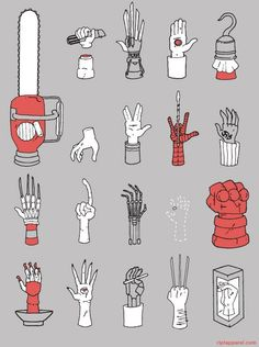 Famous Sci-Fi hands