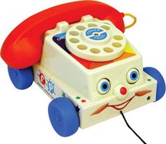 Fisher Price Chatter Telephone ~ Hmmm? Maybe this little buggy-eyed phone is why I developed an aversion to talking on the telephone?