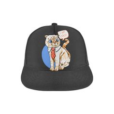 Coco Cat with Tie Snapback Hat