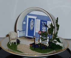 Smaller Scales - Miniaque's ||| doll, house, dollhouse, miniature, tea cup, vignette, scene, diorama, mouse, mice