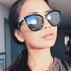Silver Vintage Inspired Cat Eyed Sunglasses