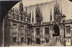 Gorgeous postcard would look great framed! Rouen France Palace of Justice Vintage International Postcards   by heritagepostcards, $5.75