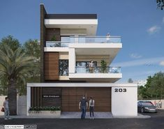 Bungalow House Design, House Front Design, Modern House Design, Townhouse Exterior, House Design Pictures, Home Building Design, Villa, Corner House, 3d Home