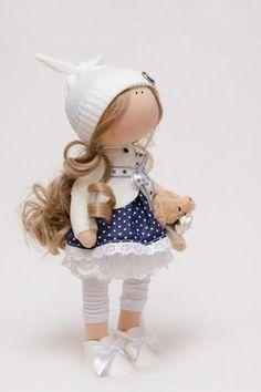 Evie Doll-Handmade Doll-Textile por BroderieLittleCorner en Etsy