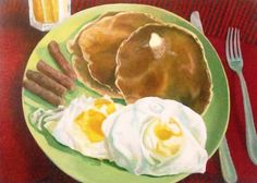 """Breakfast Plate - Oil paint on canvas, 18"""" x 24"""", by Mark Granlund"""
