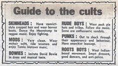 Skinheads, Mods, Bowies, Rude Boys, Punks And Roots Boys. Ska Music, Reggae Music, Music Music, David Bowie, Religion, Crop Hair, Teddy Boys, Bad Influence, Rude Boy