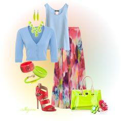 """'Spring Softness'"" by rjaynne on Polyvore #springfashion #floralskirt #skirt #redheels #fashion"