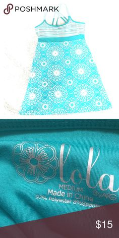 Sun dress Sundress by Lola 92 percent polyester 8 percent spandex Lola Getts Active Dresses Midi