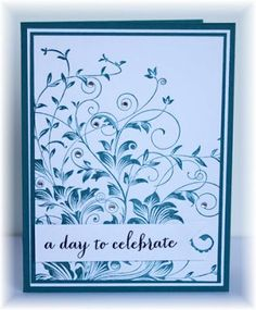 The card - I think this is a Hero Arts stamp.... I stamped the image with old olive on the patterened paper and then stamped it again with v...