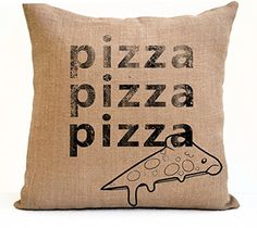 Pizza Burlap Pillow Cushion Cover Funny Dorm Pillow Sorority Gift for Friends Dorm Decor Birthday Pizza Party Lover Decor Teen Typography (12x20 Inches) Amore Beaute http://www.amazon.com/dp/B014KV8YWA/ref=cm_sw_r_pi_dp_c8IQwb1JEN2TN