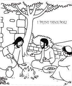 Chiamata primi discepoli Jesus Has Risen, Jesus Drawings, Bible News, Bible Crafts, Kids Church, Bible Stories, New Testament, Sunday School, Doodles