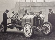 Donald Herr is shown in his fully stripped National racing car, which won the Free For All at the Port Jefferson, Long Island, NY Hill Climb c. 1910-1912. The Free for all at that time, typically was the run for the big displacement machines. Photo courtesy of Bob Swanson.