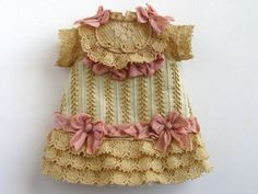Tiny Dress for Antique French or German Doll | eBay: